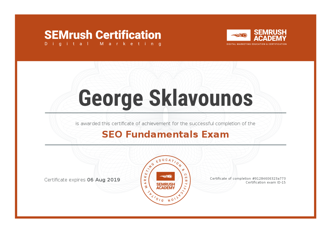 SEO Fundamentals Exam