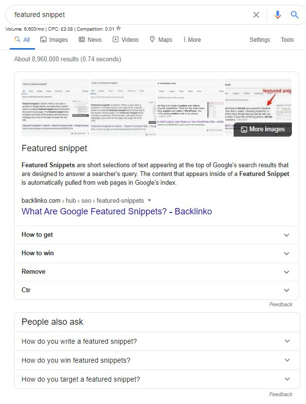 Featured Snippet - April 2020
